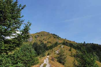 Razgledni Kamniški vrh je lahko tudi izhodišče za daljšo turo na Krvavec.