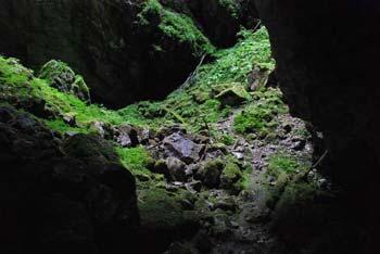 Mrzla jama pod Kršicevcem ima slikovit vhod, ki nas premakne daleč v preteklost.