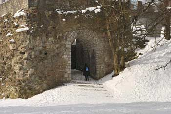Zmajske Šance so bile nekoč predstraža Ljubljanskega gradu.