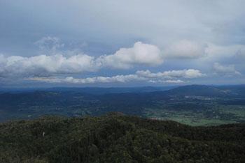 Suhi vrh je razgleden vrh planote Nanos. Vidijo se hribi Hrušice. Krožna pot nanj je izredno razgibana.