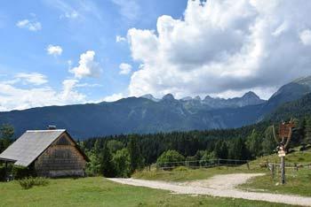 Iz Uskovnice se ob lepem vremenu vidijo vrhovi številnih brezpotnih in slikovitih dvatisočakov okoli Debelega vrha.