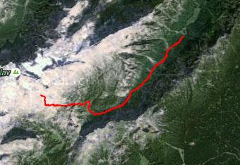 Do doma Planika nas lahko vodi tudi GPS sled.
