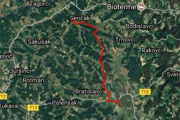 Z Gomile se spustimo vse do velikega Savskega ribnika v Slovenskih goricah.