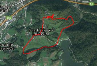 GPS navigacija nam pomaga na poti na Gradiški grič.