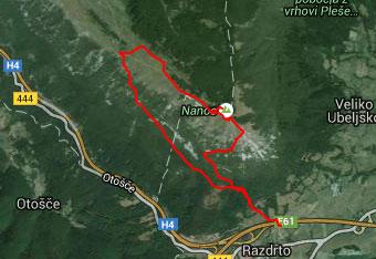 GPS sled nas vodi na Grmado na Nanosu.