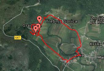 Pri krožnem izletu do izvira Krke priporočamo uporabo GPS navigacije.