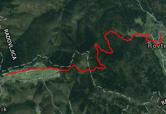 Do vasice Jamnik ni nujno uporabiti gps track.