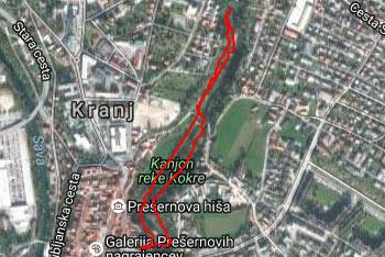 Kanjon Kokre se nahaja pod Kranjem nedaleč stran od sotočja z reko Savo.