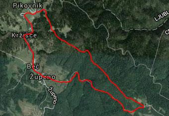 Ker hodimo na Koščake skozi zaraščen gozd, je gps sled priporočljiva.