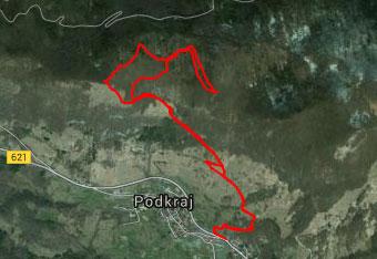 Do vrha Križne gore hodimo po tihem Trnovskem gozdu, zato uporabimo gps sled.