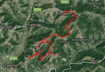 Opisana pot do Krkavč je precej zavita, zato si pomagamo s gps sledjo.