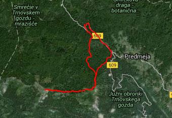 GPS sled nas vodi do Kucelja na Čavnu.