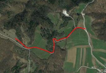 Do Kuclja nad Višnjo goro se zapeljemo s pomočjo cestne gps navigacije.