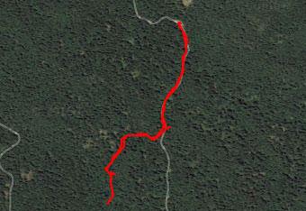 Ker hodimo do Ledene jame po globokem gozdu Stojne uporabimo gps navigacijo.