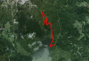 S pomočjo GPS tracka bomo lažje najdli vrh Male Pece.