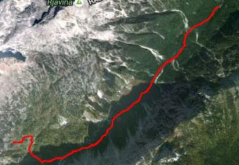 GPS sled nas vodi na Svetega Lovrenca, oziroma Polhograjsko goro.