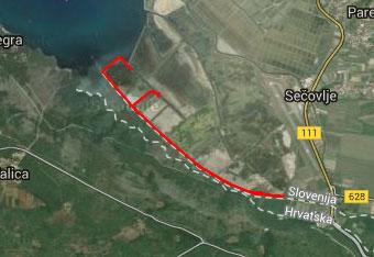 Pri Sečoveljskih solinah ob reki Dragonji uporabimo gps aplikacijo zgolj do izhodišča.