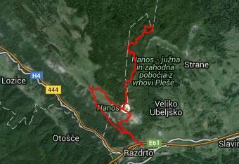 Ker do Suhega vrha hodimo tudi po globokem gozdu Nanoške planote obvezno uporabimo tudi gps navigacijo.