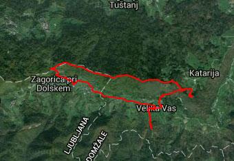 GPS sled nam na poti na Cicelj pomaga pri orientaciji.