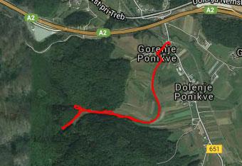 Do Travnice uporabimo navigacijo tako za izhodišče kot sam sprehod do kraških izvirov.