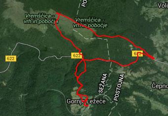 Na Vremščico vodi dobro označena pot, nazaj grede pa uporabimo gps track.