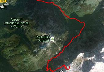 GPS sled nas vodi do Zasavske koče na Prehodavcih.