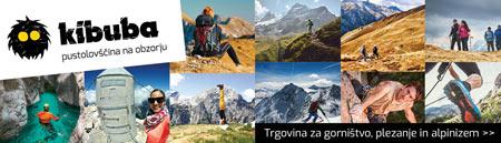 Kibuba, Najbolj prijazna slovenska trgovina s plezalno, gorniško, pohodniško in popotniško opremo priznanih blagovnih znamk.
