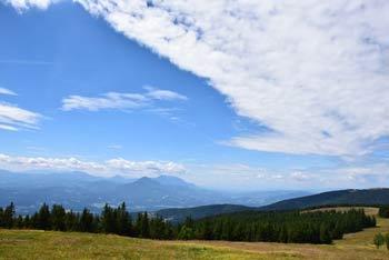 Črni vrh je najvišji vrh Pohorja s katerega se lepo vidi Velika Kopa.