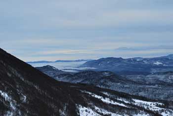 Križna gora je eden od vrhov Hrušice nasproti Nanosa in Suhega vrha.