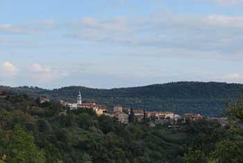Krkavče je manjša lepo ohranjena vasica v Koprskih brdih visoko nad dolino reke Dragonje, ki se izliva v morje pri Sečoveljskih solinah.