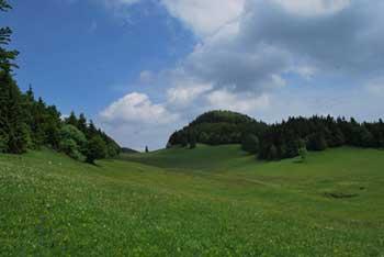 Paški Kozjak je greben, ki se ga lepo vidi s Stenice in tudi visokega Stolpnika na Konjiški gori.