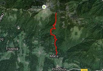 Pot na Bašeljski vrh je orientacijsko nezahtevna.