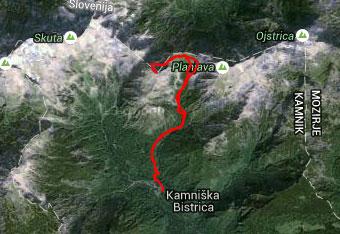 Pot na Brano je dobro nadelana in višje označena, zato imamo s sabo gps sled samo, če nas ujame noč.