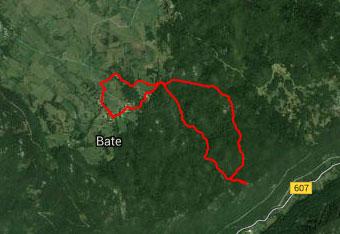 Pot do Črne glave je neoznačena in vodi po globokem gozdu, zato uporabimo gps navigacijo.