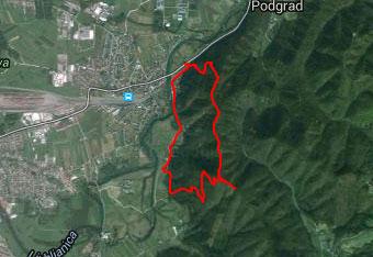 GPS sled nas vodi po slabše markirani poti preko Kašeljskega hriba na Debni vrh.