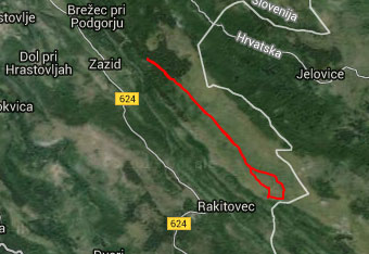 Orientacija do Kavčiča je lahka, a nam gps track vseeno pomaga na ključnih zavojih.