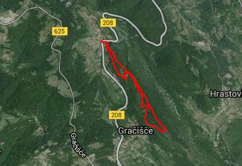 GPS sled nas navigira na Lačno, a gre tudi brez.