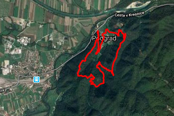 Lazarjev vrh se nahaja nad sotočjem Ljubljanice, Save in Kamniške Bistrice.