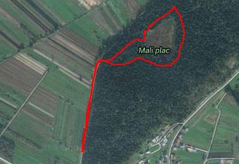 Glede izleta v Mali plac priporočamo uporabo cestne navigacije do izhodišča.