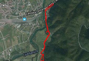 Orientacija po Mrzli dolini je zelo lahka, zato gps navigacijo uporabimo predvsem do izhodišča.
