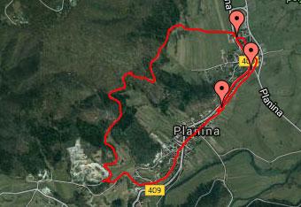 Na sprehodu po okolici Planine za vsak slučaj uporabimo gps track.
