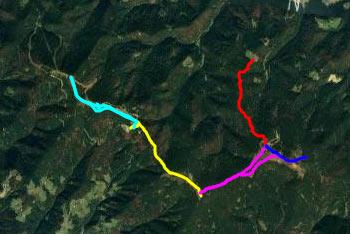 Ribniška koča in gps sled, ki prikazuje pot do nje vodi do Črnega vrha, ki je najvišji predel Pohorja. Pešpot do njega je lahka in jo bodo zmogli tudi najmlajši otroci.