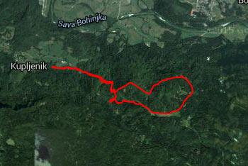 Do Taleža iz vasi Kupljenik nas vodi gps sled.