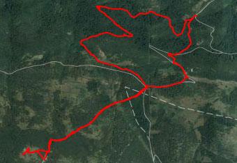 Zlastni med povratkom iz Trstelja je potrebno uporabljati GPS sled.