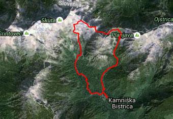 Do Turske gore vodi dobro označena pot, ki ne terja gps tracka.