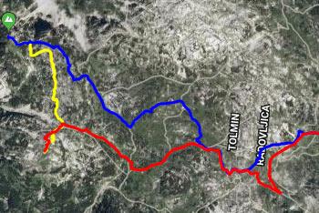 Dolga pot na Veliko Babo nas vodi od slapa Savica preko Komne in Bogatinskega sedla ter nato po brezpotju mimo Velike Monture.