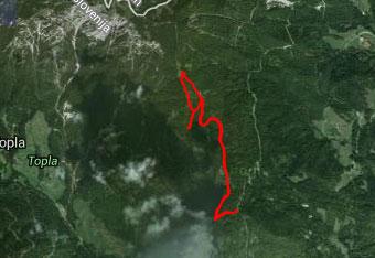 GPS sled nas pripelje do Doma na Peci, čeprav ni nujno potreba.